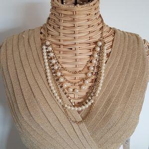 NWOT Stunning Multi strand Statement Necklace
